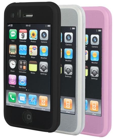 MCA Pack de 3 housses Silicone pour iPhone 3G